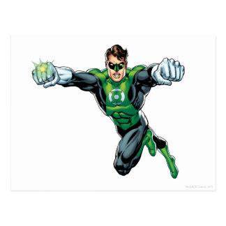 Linterna verde - cómica, mirando adelante postales
