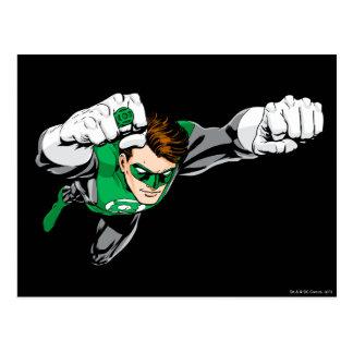 Linterna verde - cómica, volando a la derecha tarjeta postal