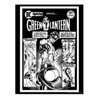 Linterna verde - cómico, negro sombreada verde y W Tarjetas Postales