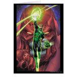 Linterna verde con la corriente del color claro tarjeta