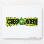 Linterna verde - linterna que brilla intensamente  tapetes de ratón