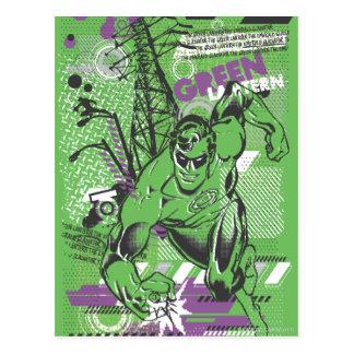 Linterna verde - poster absurdo del collage tarjetas postales