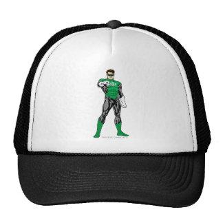 Linterna verde - rendida completamente, colocándos gorras