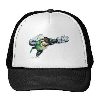 Linterna verde - rendida completamente, volando a  gorras