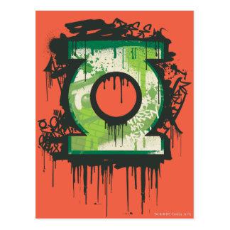 Linterna verde - símbolo torcido de la inocencia postales