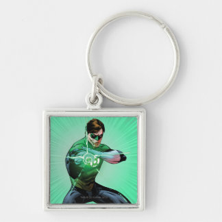 Linterna verde y anillo que brilla intensamente llavero personalizado