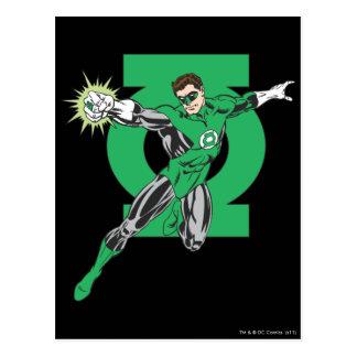 Linterna verde y símbolo postal