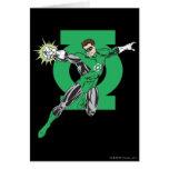 Linterna verde y símbolo tarjeta