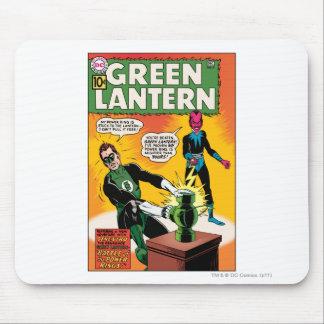 Linterna y cubierta verdes de Sinestro Alfombrillas De Raton