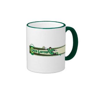 Linterna y logotipo verdes taza