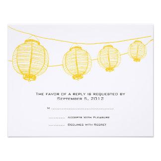 Linternas amarillas y blancas que casan RSVP Anuncios Personalizados