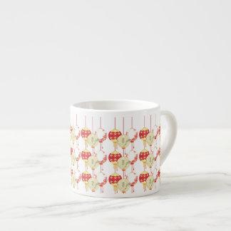 Linternas asiáticas taza espresso