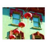 Linternas chinas en Chinatown Tarjetas Postales