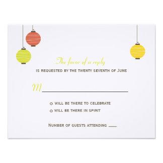 Linternas colgantes que casan la tarjeta de RSVP Invitaciones Personales