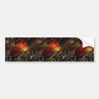 Linternas coloridas pegatina de parachoque