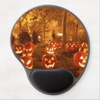 Linternas de Jack O del feliz Halloween Alfombrilla De Raton Con Gel