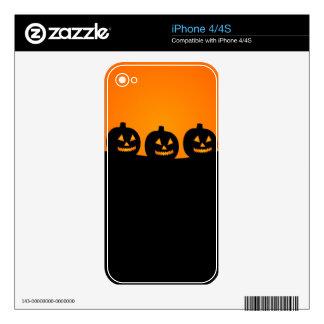 Linternas de Jack O del feliz Halloween iPhone 4S Skins