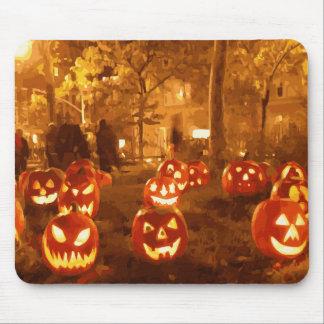 Linternas de Jack O del feliz Halloween Alfombrilla De Raton