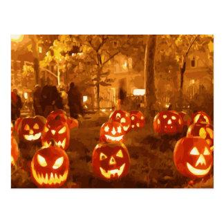 Linternas de Jack O del feliz Halloween Postales