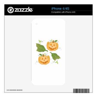 Linternas de Jack O Skins Para iPhone 4