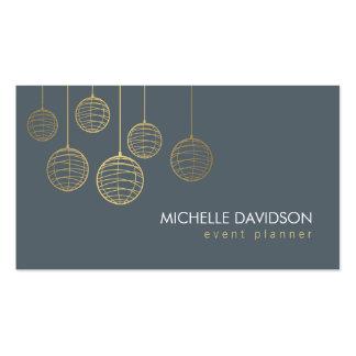 Linternas de papel 4 del oro elegante para el plan tarjetas de negocios