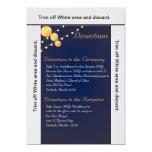 linternas de papel Bl de la tarjeta de las Invitación 12,7 X 17,8 Cm