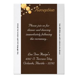 """linternas de papel Bro de la tarjeta de la Invitación 5"""" X 7"""""""