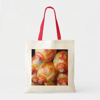 Linternas de papel chinas afortunadas bolsa tela barata