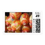 Linternas de papel chinas afortunadas timbres postales