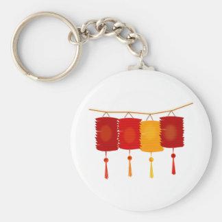 Linternas de papel chinas llavero redondo tipo pin