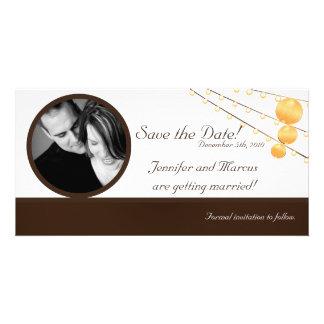 linternas de papel de la invitación del compromiso tarjetas personales con fotos