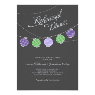 Linternas de papel de la invitación el | de la invitación 12,7 x 17,8 cm