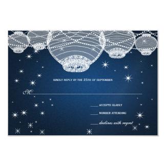 """Linternas de papel de la marina de guerra del boda invitación 3.5"""" x 5"""""""