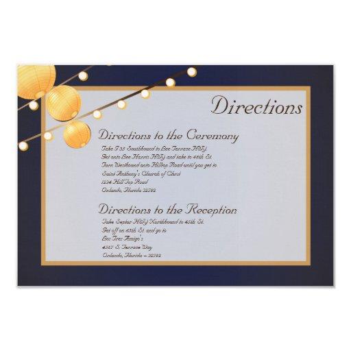 linternas de papel de la tarjeta de las invitación 8,9 x 12,7 cm