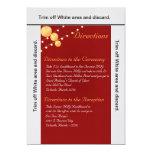 linternas de papel de la tarjeta de las invitación 12,7 x 17,8 cm