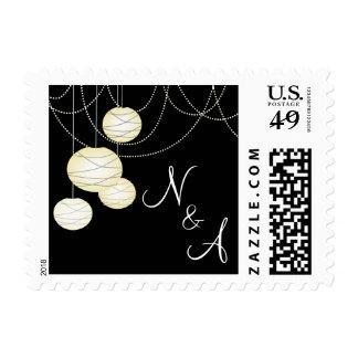 Linternas de papel de marfil que casan el sello