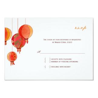 """Linternas de papel modernas elegantes que casan invitación 3.5"""" x 5"""""""