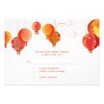 Linternas de papel modernas rojas que casan RSVP ( Comunicados Personales