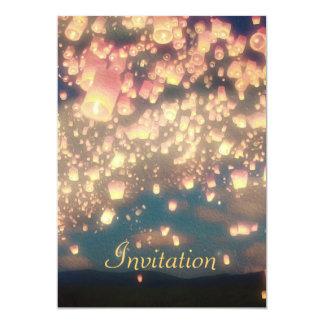 Linternas del deseo del amor - invitación del