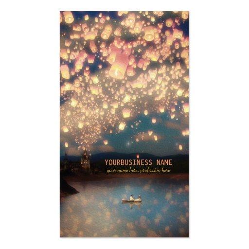 Linternas del deseo del amor tarjeta personal