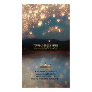 Linternas del deseo del amor plantilla de tarjeta de negocio