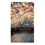 Linternas del deseo del amor tarjetas de visita