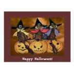 Linternas del o de los búhos y de Jack de Hallowee Tarjetas Postales