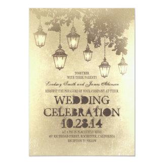 """Linternas del Victorian que casan invitaciones Invitación 5"""" X 7"""""""