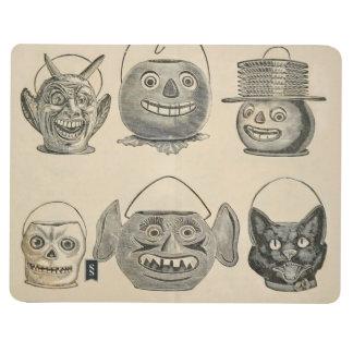 Linternas del vintage del gato negro de la cuadernos grapados