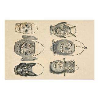 Linternas del vintage del gato negro de la fotografías