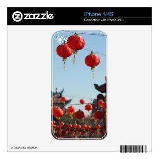 Linternas en Chinatown Calcomanía Para El iPhone 4