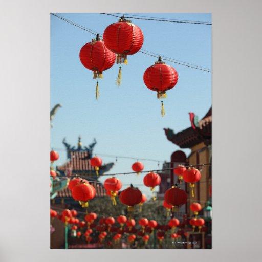 Linternas en Chinatown Impresiones