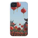 Linternas en Chinatown iPhone 4 Carcasas