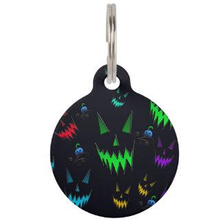 Linternas fantasmales de Halloween Jack O Placas Para Mascotas